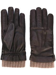 перчатки с манжетами в рубчик Loro Piana