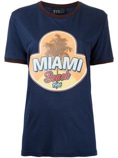 футболка с принтом Miami Beach  N Duo