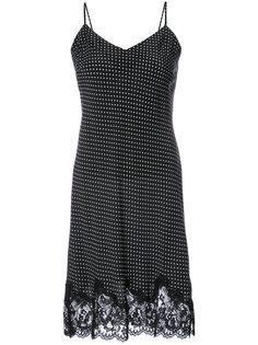 платье-комбинация с кружевными вставками Gold Hawk