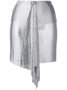драпированная мини-юбка  Versus