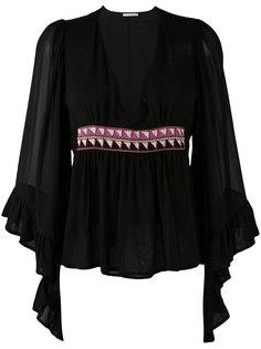 декорированная блузка с рюшами Amen Amen.