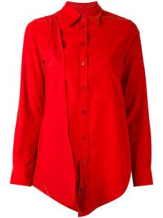удлиненная рубашка с асимметричным подолом Mm6 Maison Margiela