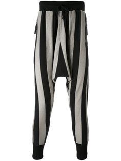 полосатые брюки с заниженной проймой Unconditional
