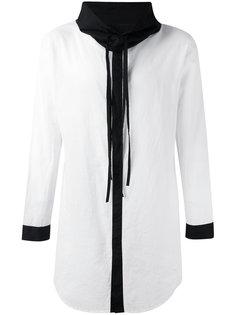 удлиненная рубашка с черной окантовкой Unconditional