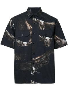 рубашка с принтом орлов Yoshio Kubo