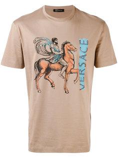 футболка с принтом-логотипом Pegasus  Versace
