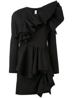 короткое платье с оборками Marni