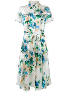 платье-рубашка с цветочным принтом Rossella Jardini