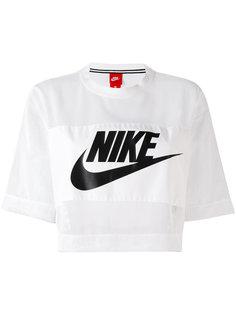 сетчатый укороченный топ  Nike