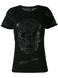 футболка с вышивкой черепа Philipp Plein