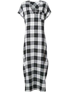 длинное клетчатое платье Osklen