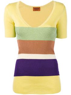 полосатый свитер с V-образным вырезом Missoni