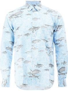 рубашка с принтом рыб Comme Des Garçons Homme Plus