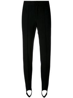 узкие брюки с петлей под подошву Moncler