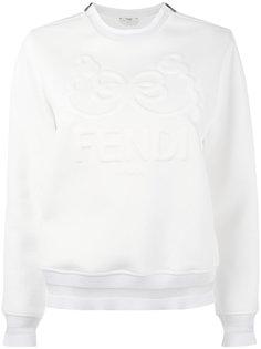 толстовка с тиснением логотипа Fendi