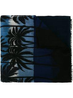 шарф с пальмовым принтом Saint Laurent