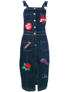 джинсовое платье с вышивкой Philipp Plein
