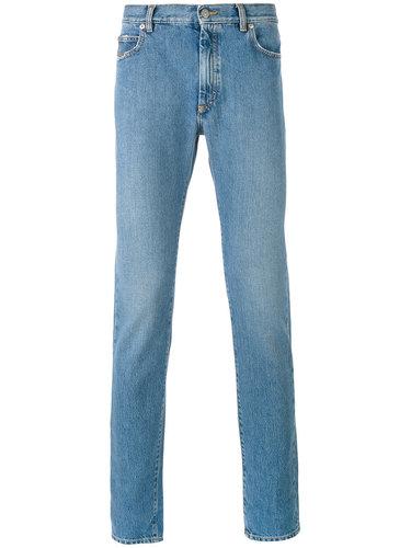 джинсы кроя скинни с потертой отделкой Maison Margiela