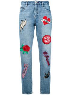 укороченный джинсы с вышивкой Philipp Plein