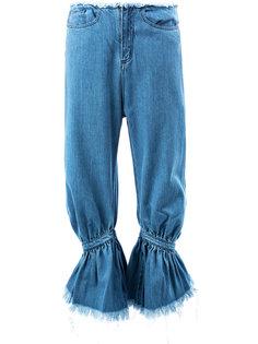 укороченные джинсы со сборкой Marquesalmeida