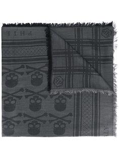 шарф с черепами Philipp Plein