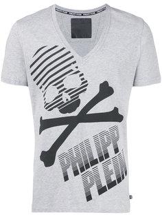 футболка с принтом черепа и костей Philipp Plein