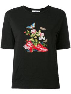 футболка с цветочной вышивкой Vivetta