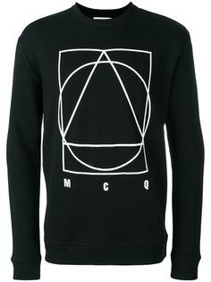 glyph icon print sweatshirt  McQ Alexander McQueen