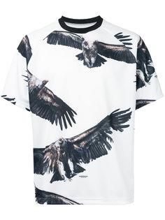 футболка с принтом орла Yoshio Kubo