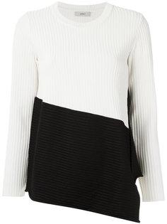 bicolor knit jumper Egrey