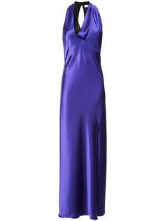 платье с воротником-хомут Lanvin