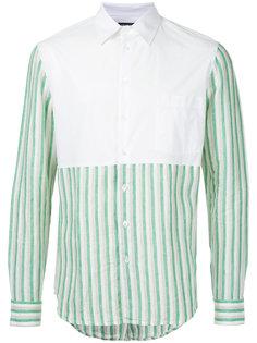 рубашка с контрастной нагрудной панелью Raf Simons