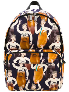 рюкзак с абстрактным принтом Bally