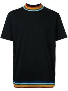 футболка с радужной окантовкой Palm Angels
