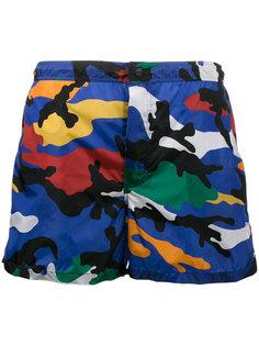 камуфляжные шорты для плавания Valentino