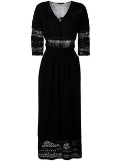 длинное платье с резным узором Roberto Collina