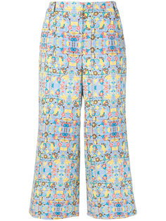 printed cropped trousers Miahatami