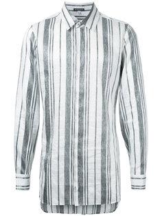 полосатая рубашка с завязками на спине Ann Demeulemeester