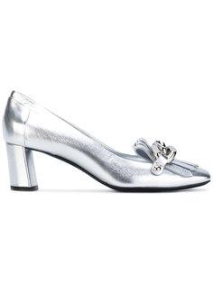 mid heel fringed loafers Casadei