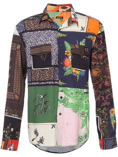 patchwork print shirt Osklen