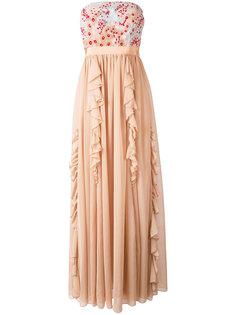 flower organza long dress  Si Jay