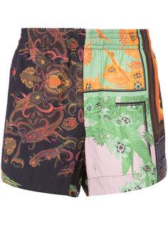 patchwork print shorts Osklen