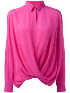 шелковая драпированная рубашка Moschino