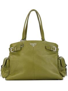большая сумка-тоут Prada Vintage