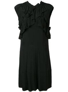 платье без рукавов с рюшами Marni