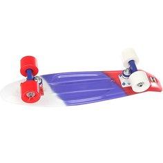 Скейт мини круизер Пластборд Flag Red/Blue/White 6 x 22.5 (57.2 см) Пластборды