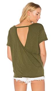 Полушерстяная футболка из джерси с перекрестными шлейками сзади - Bobi