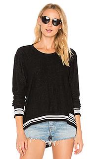 Big backslant rib mix trim sweatshirt - Wilt