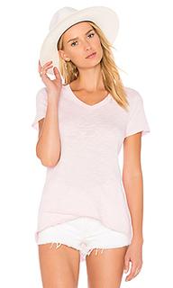 Рваная футболка с v-вырезом и ложным подолом - Wilt