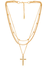 Serpent cross charm necklace - Luv AJ